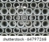 Concrete pipe abstract background - stock photo