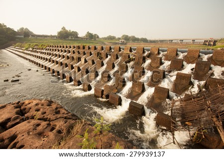 Concrete reducing water pressure Small dams