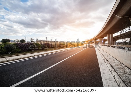 concrete road curve of viaduct in china outdoor