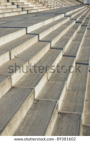 Sparse Composition Stairs Diminishing Perspective Stock