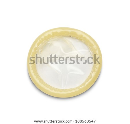 condom on white background