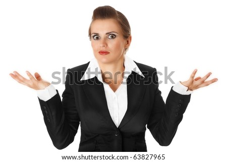 confused modern business woman