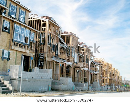 Tract houses stock photos images pictures shutterstock for Tract home builders