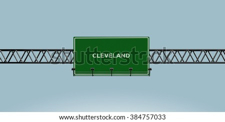 construction green road sign cleveland