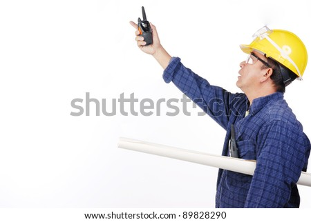 construction man with yellow hard hat