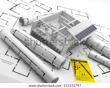 Construction of a building. Renewable energy. Energy Saving. Real Estate