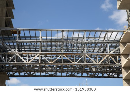 Construction site. Industrial image -construction of multi-storey residential buildings
