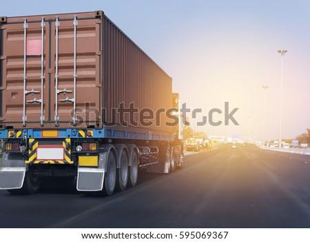 Truck On Background Landscape Stock Illustration 101504533 ...