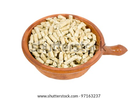 container with pellets