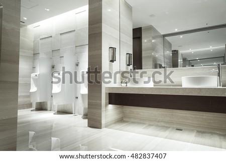 Interior Modern Apartment Domestic Bathroom Stock Photo ...