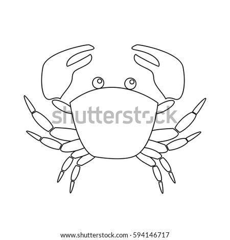 Spider Crab Icon Outline Illustration Spider Stock Vector