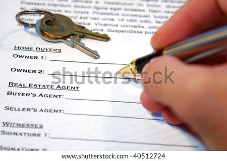 Contract Sale New Home Lorem Ipsum Stock Photo   Shutterstock
