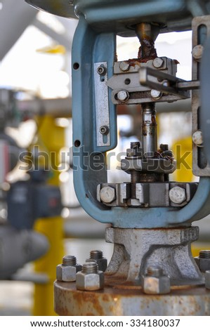 Control valve, Indicator for monitor position or status of valve function, pressure control valve or level control valve, Controller of oil and gas industry.