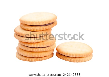 cookies in stack isolated on white