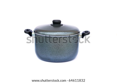 Cooking pot isolated on white background.