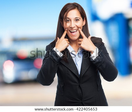 cool business woman smiling