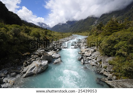 Copland river, Copland Track, New Zealand