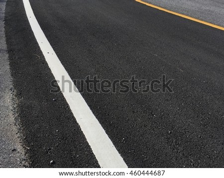 Copy space of road line texture abstract background.