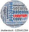 copyright in word collage concept - stock photo