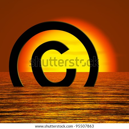 Copyright Symbol Sinking Meaning Piracy Or Infringements