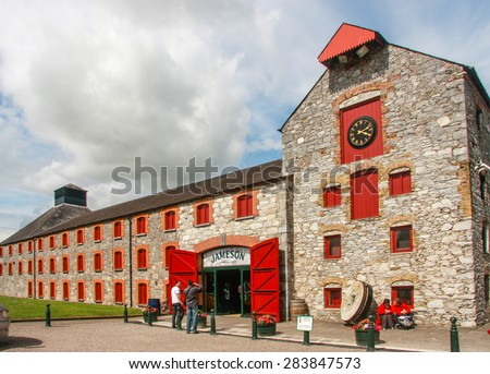 CORK, IRELAND - JUNE 20, 2008:  The Jameson Heritage Center  in Midleton Co. Cork, 12 miles east of Cork City on the main Cork Waterford Road. Old Midleton Distillery is museum of Irish whiskey.