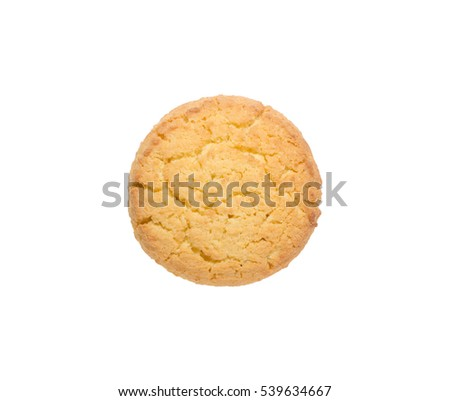 Corn cookies isolated on white background