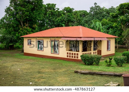 Corn Island, Nicaragua - August 17, 2016: House from Corn Island, Nicaragua. Travel general imagery