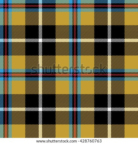 Seamless Tartan Plaid Pattern Checkered Textile Stock