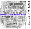 Corporate Social Responsibility in word collage - stock photo