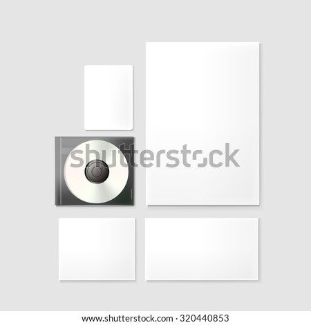 corporate stationery set isolated on grey background