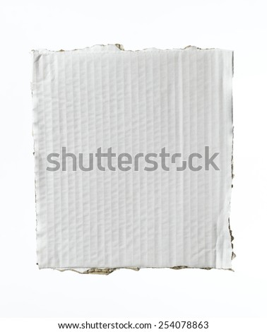 Corrugated Card with copy space