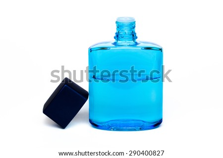 Cosmetic bottles isolated on a white background, bottles of health and beauty products