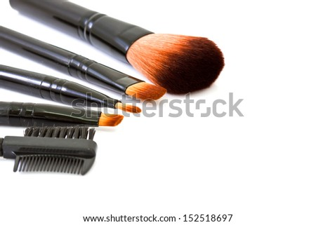 Cosmetic brush isolated on white background