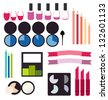 Cosmetics infographics collection - stock vector