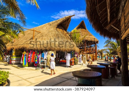 COSTA MAYA MEXICO JAN 30 2016:Costa Maya cruise ship terminal & resorts is a perfect place for visitor since many attractions awaiting. It's a perfect tropical paradise.