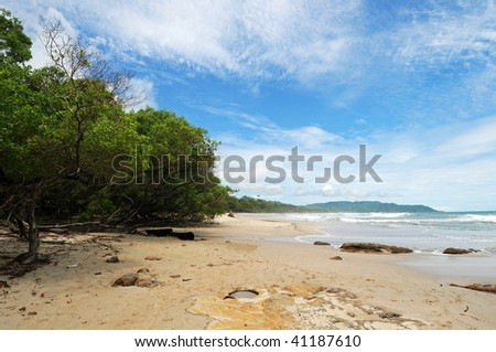 Costa Rica Tropical Beach and Coastline