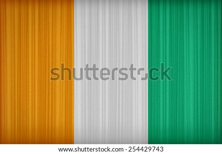 Cote D'Ivoire flag pattern on the fabric curtain,vintage style