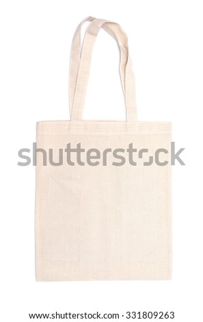 cotton eco bag on white background