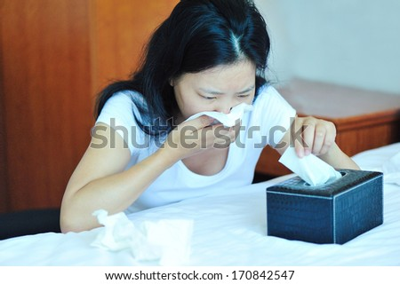 Young Woman Emotional Problems Crying During Stock Photo ...