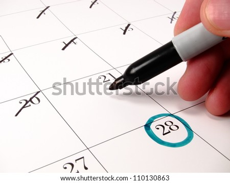 Counting Down Days Calendar Stock Photo 110130863 - Shutterstock