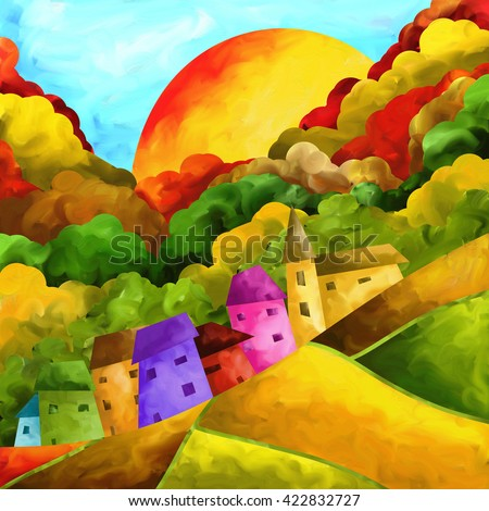 country colored hill