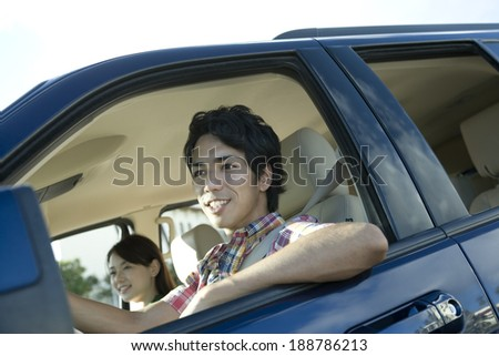 couple getting in car