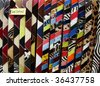 cow skin colorful belts - stock photo