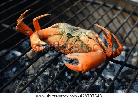 Crab on the BBQ