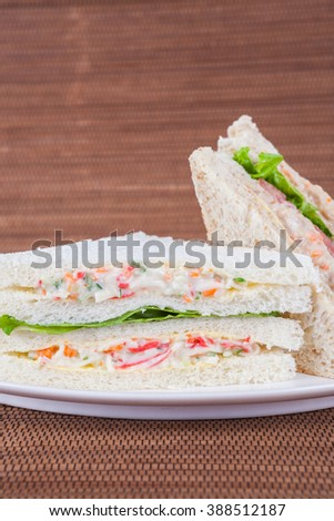 Healthy Bread Salad Sandwich Breakfast Stock Photo 497231893 ...