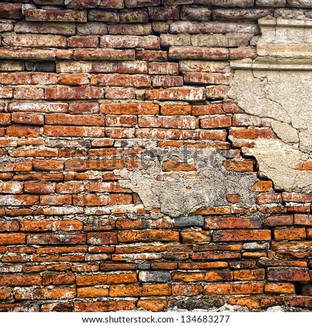cracked brick wall [Square size]