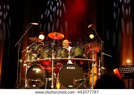 Denver December 28 Stephen Perkins Drummer Stock Photo