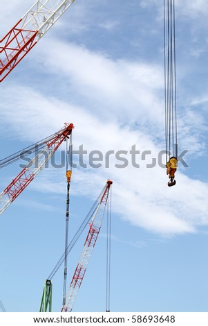 Crane Top Red White Danger Colors Stock Photo 462028180