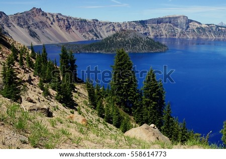 Crater Lake,  the Deepest Lake in the United States, is filled with Pure Snow and Rain Water