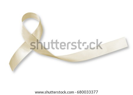white and beige ribbons